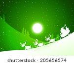 moon xmas representing santa... | Shutterstock . vector #205656574