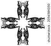 Square Cross Design Or Frame...