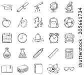 vector set of 25 sketch school...