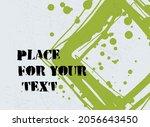 abstract creative ink header.... | Shutterstock .eps vector #2056643450
