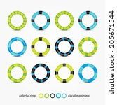 set of colorful circular... | Shutterstock .eps vector #205671544