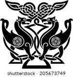 vector illustration of  bird in ...