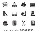 silhouette school and education ... | Shutterstock .eps vector #205675150