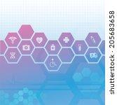 medical theme | Shutterstock .eps vector #205683658