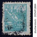 brazil   circa 1941  a stamp...   Shutterstock . vector #205691884
