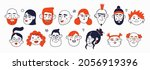set of cute hand drawn doodle... | Shutterstock .eps vector #2056919396