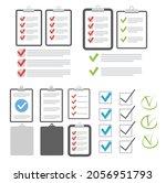 clipboard checklist flat design.... | Shutterstock . vector #2056951793