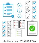 clipboard checklist flat design.... | Shutterstock . vector #2056951796