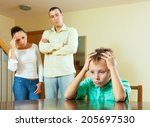 parents and teen son after... | Shutterstock . vector #205697530