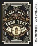 beer label with old frames   Shutterstock .eps vector #2056981043