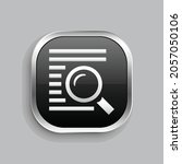 text search icon design. glossy ...