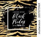black friday sale banner design ... | Shutterstock .eps vector #2057075969