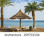 central beach of eilat   famous ... | Shutterstock . vector #205722136