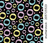 bright seamless pattern with...   Shutterstock .eps vector #205725523