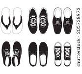 shoe vector set    Shutterstock .eps vector #205728973
