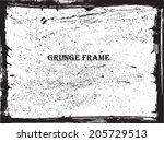 grunge frame. vector template | Shutterstock .eps vector #205729513
