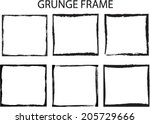 set of grunge frames | Shutterstock .eps vector #205729666