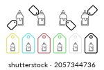 wood glue vector icon in tag...