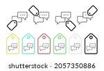 dialog vector icon in tag set...