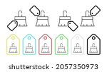 brush for painting vector icon...