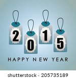 year 2015 over blue background... | Shutterstock .eps vector #205735189