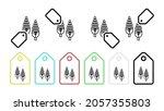 corn  plant vector icon in tag...
