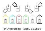 tag vector icon in tag set...