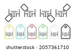 table vector icon in tag set...