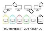 television vector icon in tag...