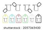 towel hanger vector icon in tag ...
