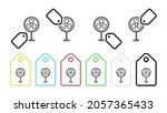 fan vector icon in tag set...
