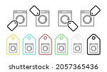 washing machine vector icon in...