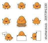 cute samosa cartoon ...   Shutterstock .eps vector #2057391230