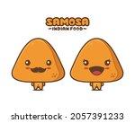 cute samosa cartoon mascot ...   Shutterstock .eps vector #2057391233