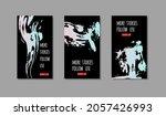 set of purple ink brush stroke... | Shutterstock .eps vector #2057426993