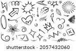 abstract arrows  ribbons ... | Shutterstock .eps vector #2057432060