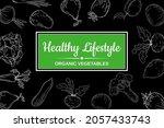 healthy lifestyle farm fresh...   Shutterstock .eps vector #2057433743