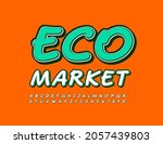 vector colorful poster eco...   Shutterstock .eps vector #2057439803