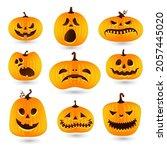 set of pumpkins for halloween....   Shutterstock .eps vector #2057445020