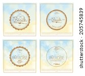 vector set of  simple stylish... | Shutterstock .eps vector #205745839