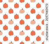 seamless pattern with pumpkins...   Shutterstock .eps vector #2057460473