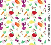 seamless pattern on a white...   Shutterstock .eps vector #2057472356