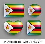 set of glossy buttons with... | Shutterstock .eps vector #2057476319