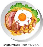 healthy breakfast dish isolated ...   Shutterstock .eps vector #2057477273