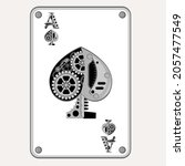 ace of spades in the style of... | Shutterstock .eps vector #2057477549