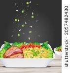 falling seasonings on to the...   Shutterstock .eps vector #2057482430