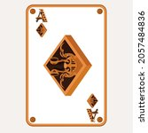 ace of diamonds in the style of ... | Shutterstock .eps vector #2057484836