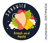a club sandwich advertising  ad ...   Shutterstock .eps vector #2057496416
