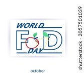 flat world day logo with red...   Shutterstock .eps vector #2057501039