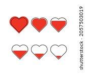 heart icon vector line on white ... | Shutterstock .eps vector #2057503019